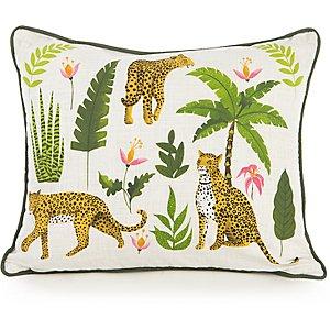 Jungle Leopard Print Cushion