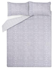 Grey Geometrical Easy Care Duvet Set