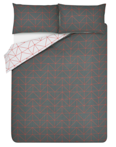 Geometrical Print Easy Care Duvet Set