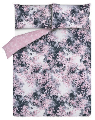 Floral Print Easy Care Reversible Duvet Set