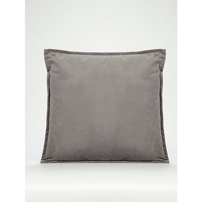 Charcoal Velvet Cushion Home George At Asda