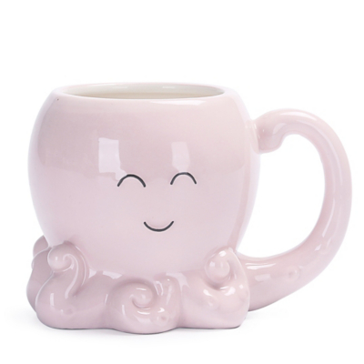 Pink Octopus Shaped Mug