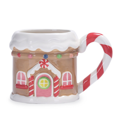 Gingerbread House Shaped Mug