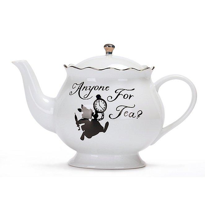 Wonderland Anyone For Tea Slogan Teapot