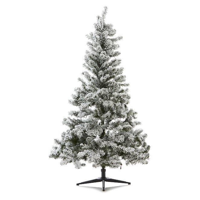 new style 75774 5c6d0 6ft Eliza Pre-Lit Snowy Pine Christmas Tree