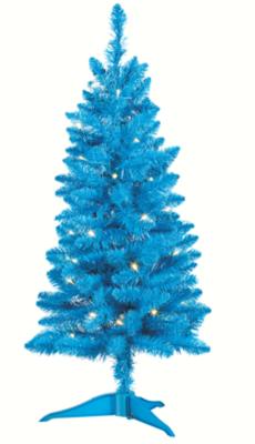 3ft Blue Pre-Lit Christmas Tree