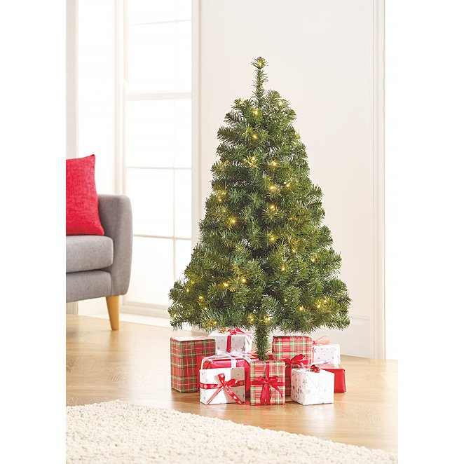 quality design 1fd2e c7f8f 4ft Pre-Lit Christmas Tree