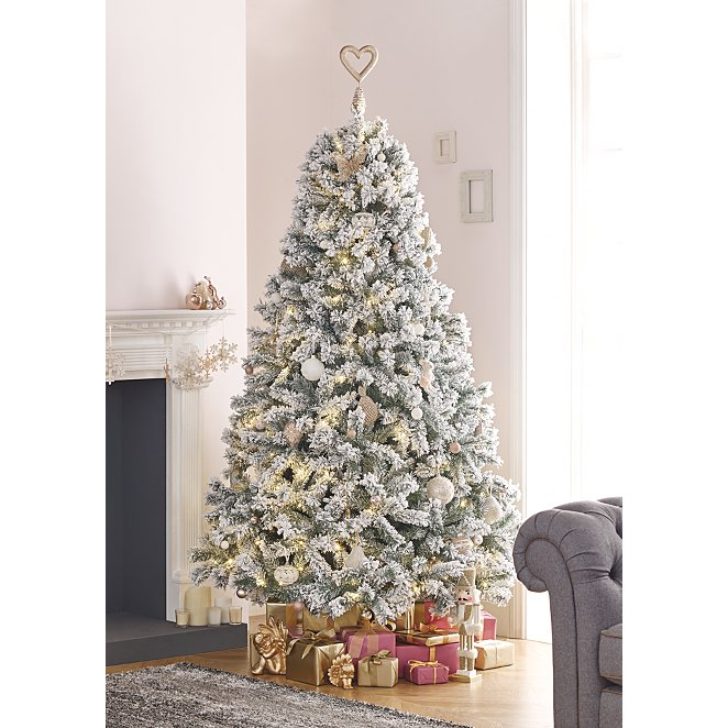 7 Ft Christmas Tree Prelit.7ft Snowy Pre Lit Christmas Tree