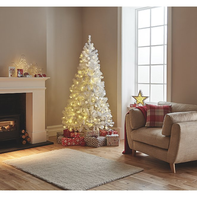 Where Did Christmas Trees Originate.White Pre Lit 7ft Christmas Tree