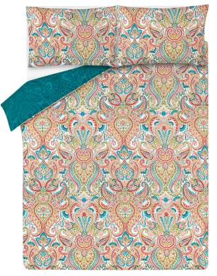 Precious Paisley Patterned Easy Care Duvet Set