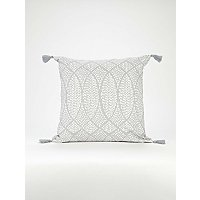 Light Grey Geometric Dotted Cushion by Asda