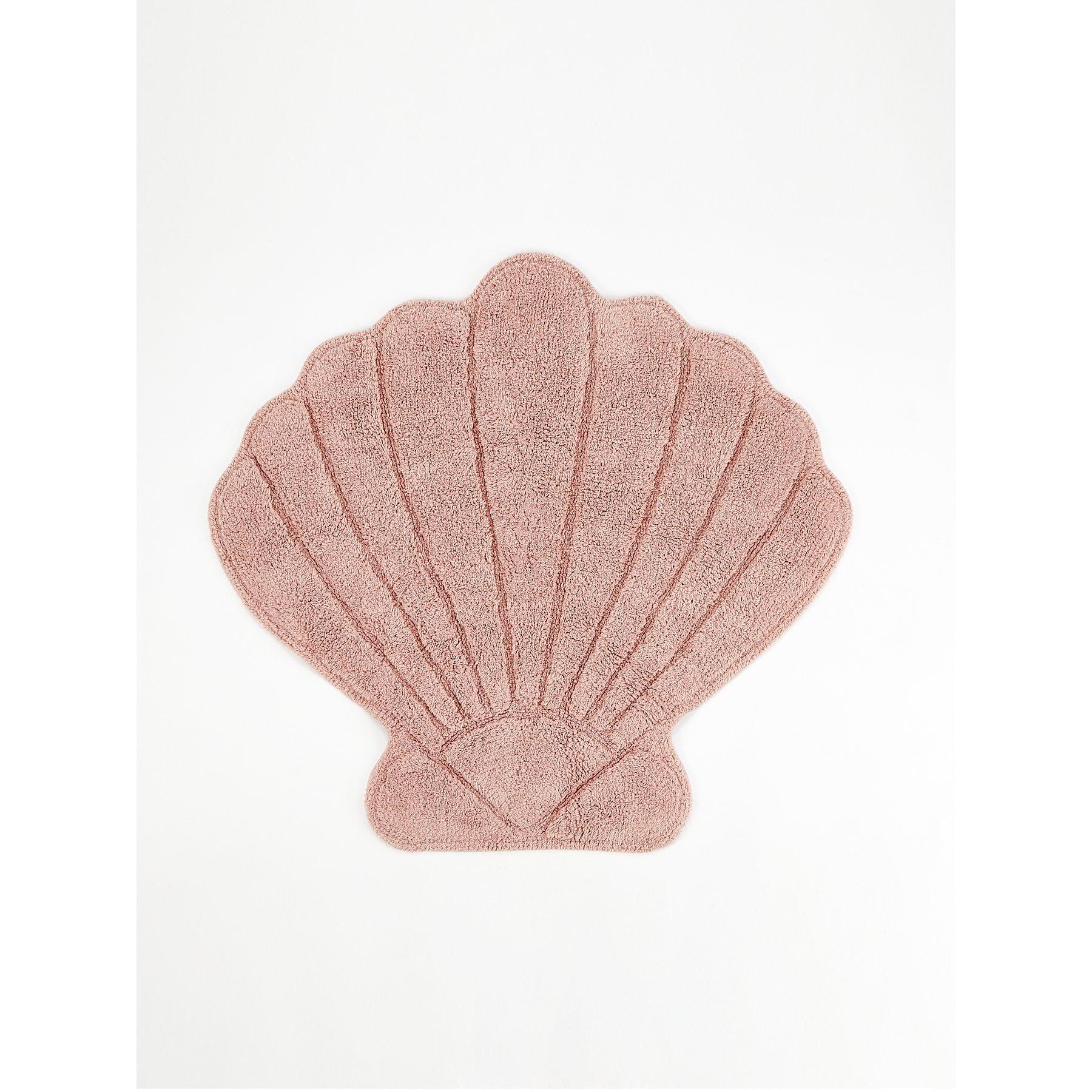 Pink Shell Shaped Bath Mat