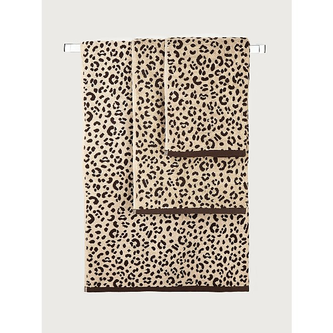 Leopard Print Cotton Towel Range Home
