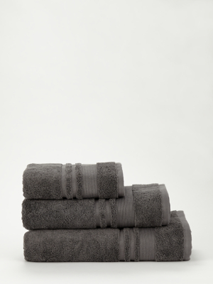Dark Grey Egyptian Cotton Towel Range