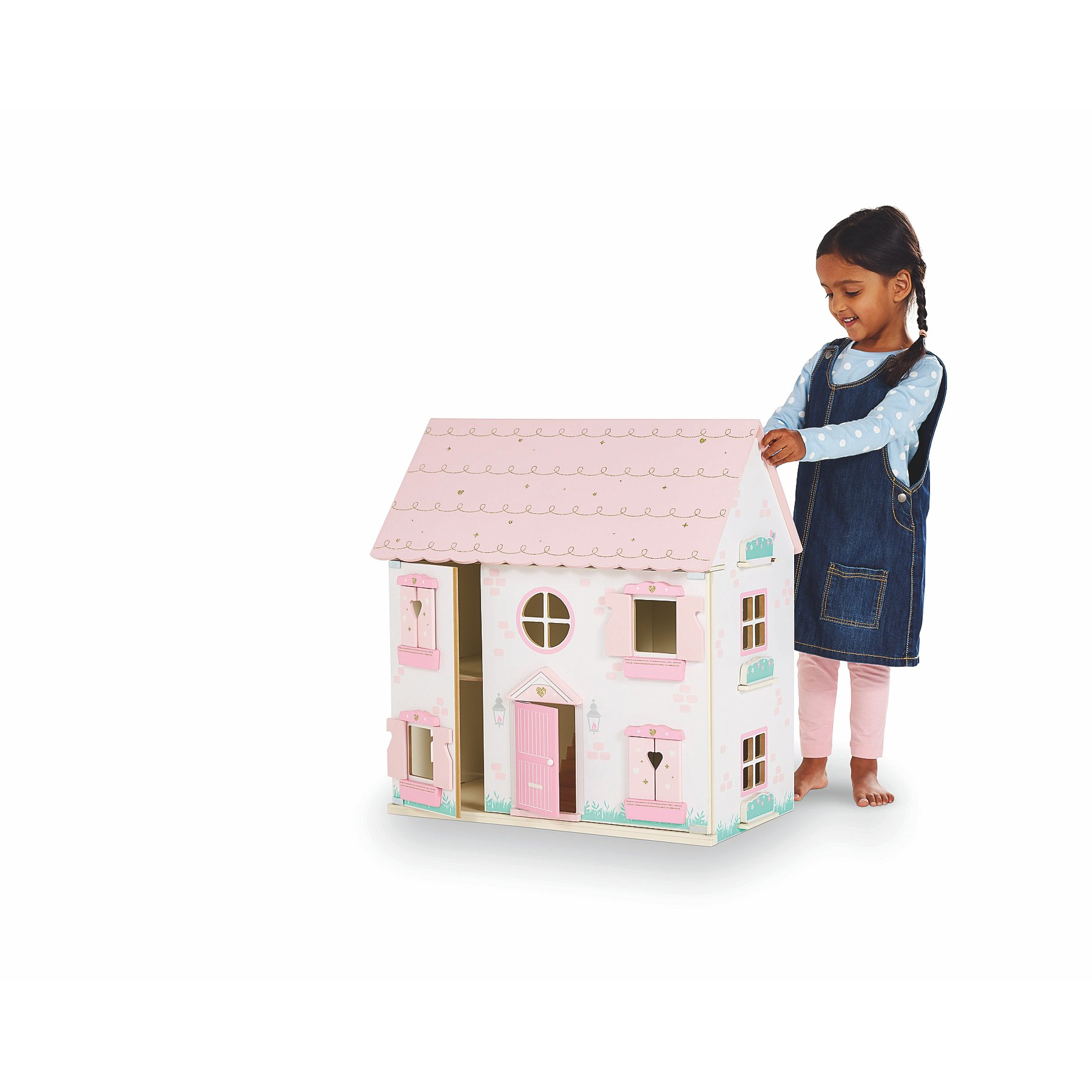 Dollhouse Miniature Wood Dollhouse w// Removable Front for Inside your Dollhouse