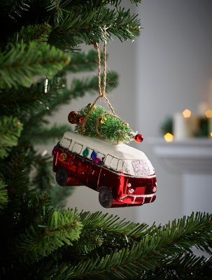 Red Van With Christmas Tree Bauble
