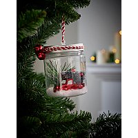 Car And Christmas Tree In Jar Christmas Tree Bauble by Asda