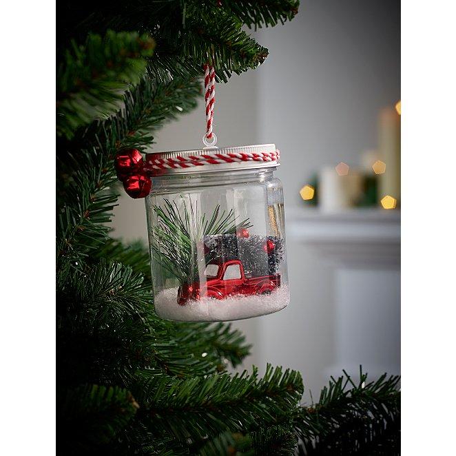 Car Christmas Tree.Car And Christmas Tree In Jar Christmas Tree Bauble