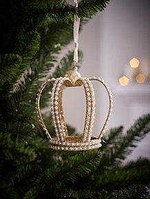 Crown Christmas Ornaments.Christmas Tree Decorations Garlands Toppers Baubles
