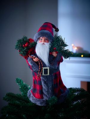 Tartan Santa Tree Topper