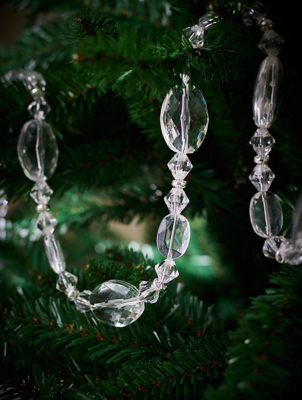 Metal Beaded Christmas Tree Garland
