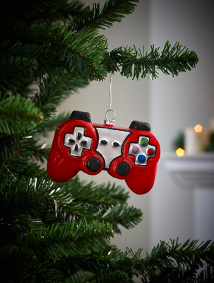Red Game Console Controller Christmas Tree Bauble
