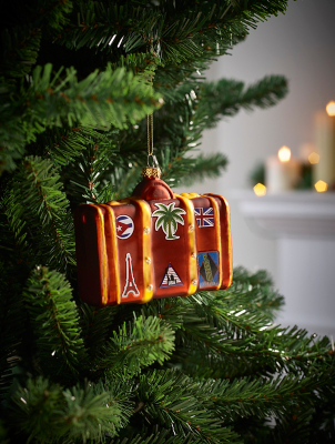 Brown Suitcase Christmas Tree Bauble
