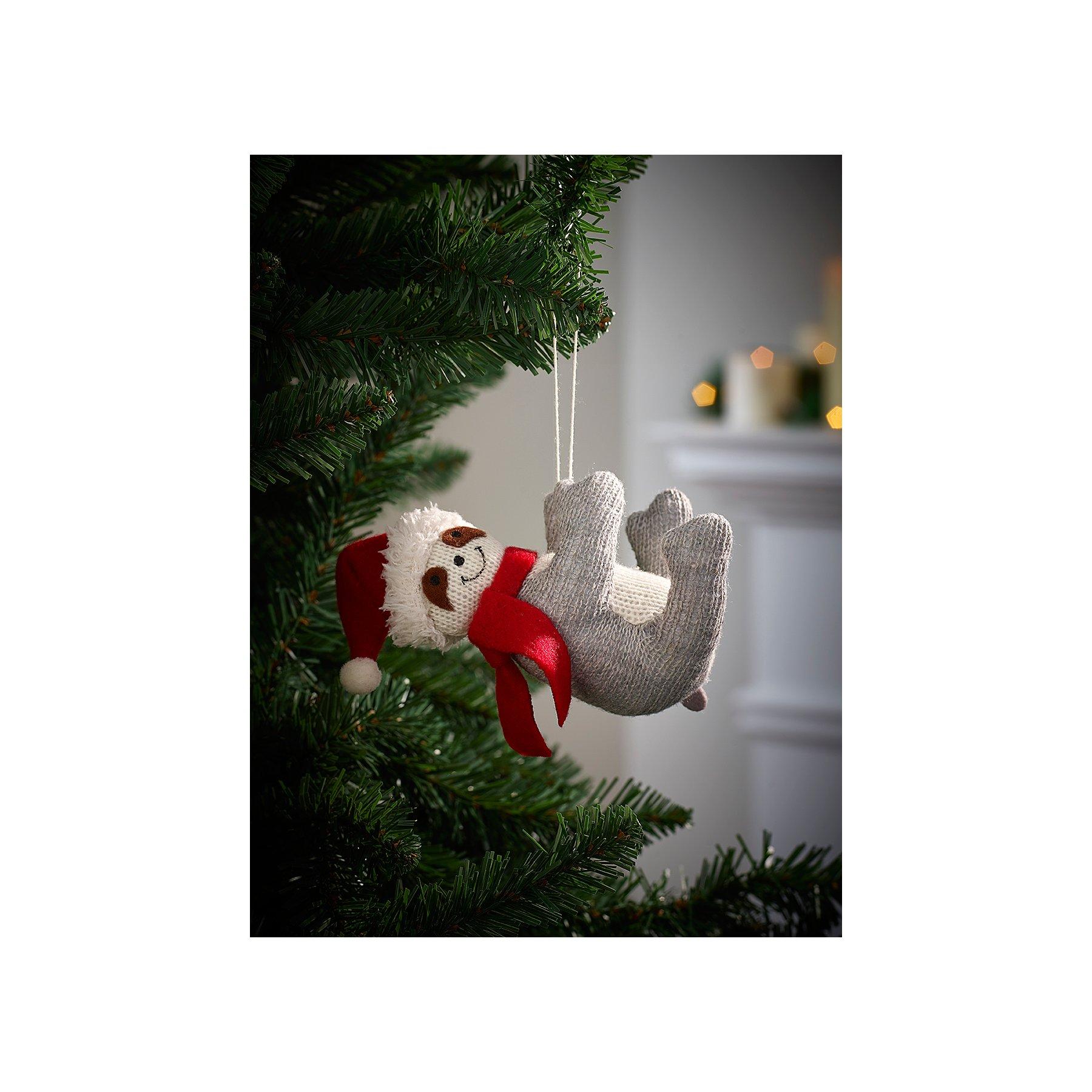 Christmas Sloth.Festive Sloth Christmas Tree Bauble