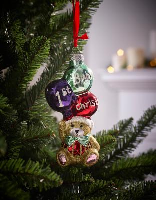 1st Christmas Bear Christmas Tree Bauble