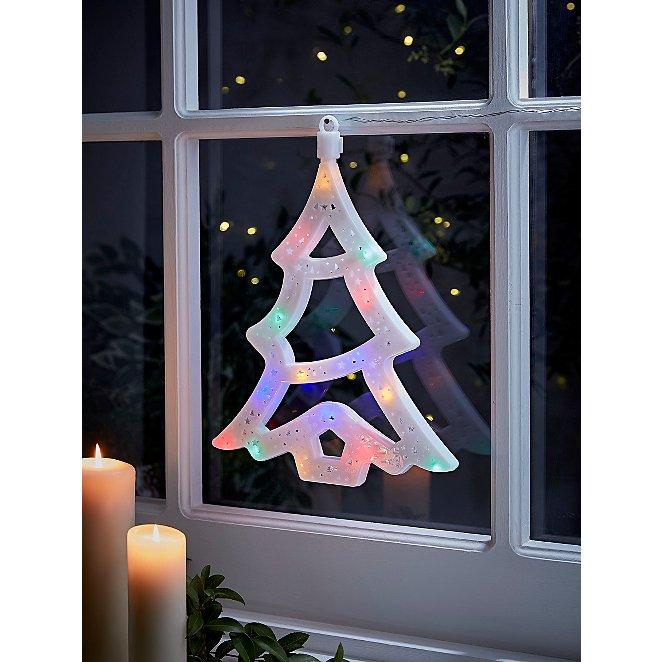 Christmas Tree Light Up Window Decoration