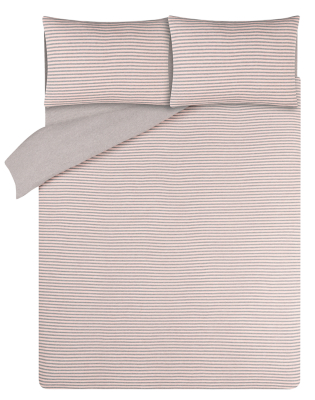 Pink Jersey Reversible Bedding Set with Fitted Sheet