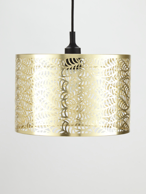 Brushed Gold Effect Cut Out Leaf Shade Home George At Asda