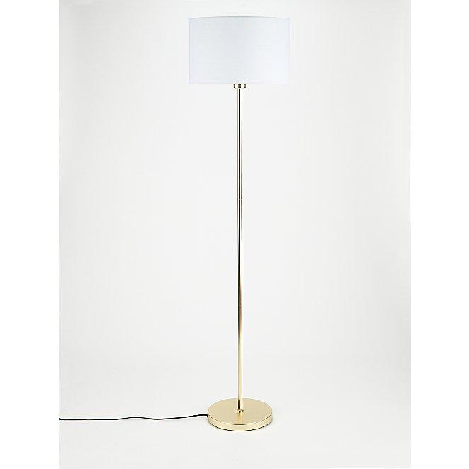 Brushed Gold Effect Floor Lamp
