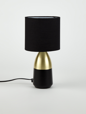 Black And Gold Touch Table Lamp Home George At Asda