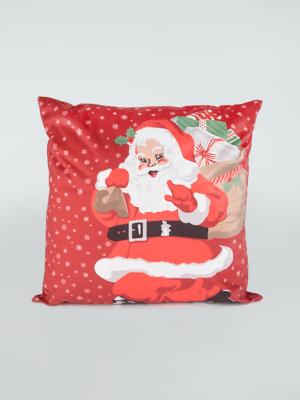 Red Traditional Santa Christmas Cushion