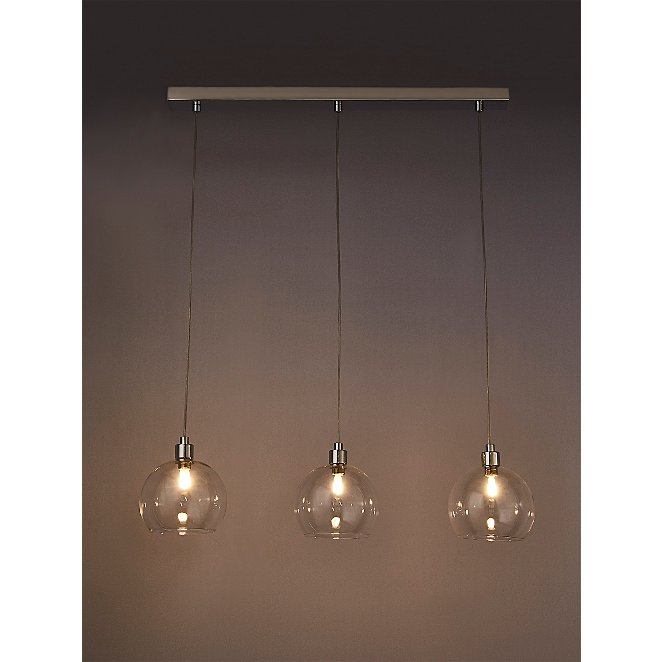 Silver 3 Bulb Pendant Bar Ceiling Light