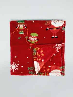Red Santa Fleece Throw