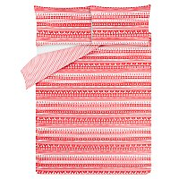 Red Scandi Easy Care Duvet Set by Asda