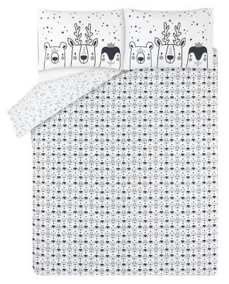 White Animals Easy Care Duvet Set