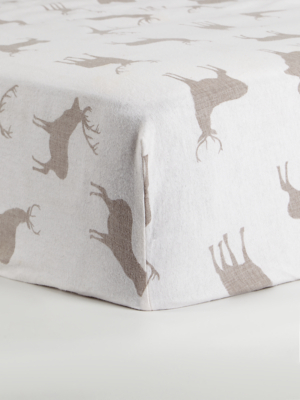 Stag Soft & Cosy Brushed Cotton Fitted Sheet