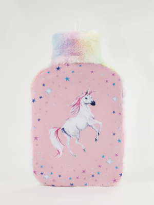 Pink Unicorn Hot Water Bottle