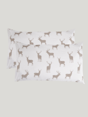 Stag Soft & Cosy Brushed Cotton Pillowcase Pair