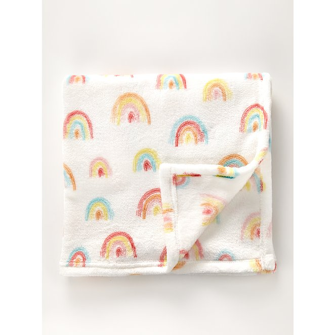Rainbows Fleece Blanket Baby George