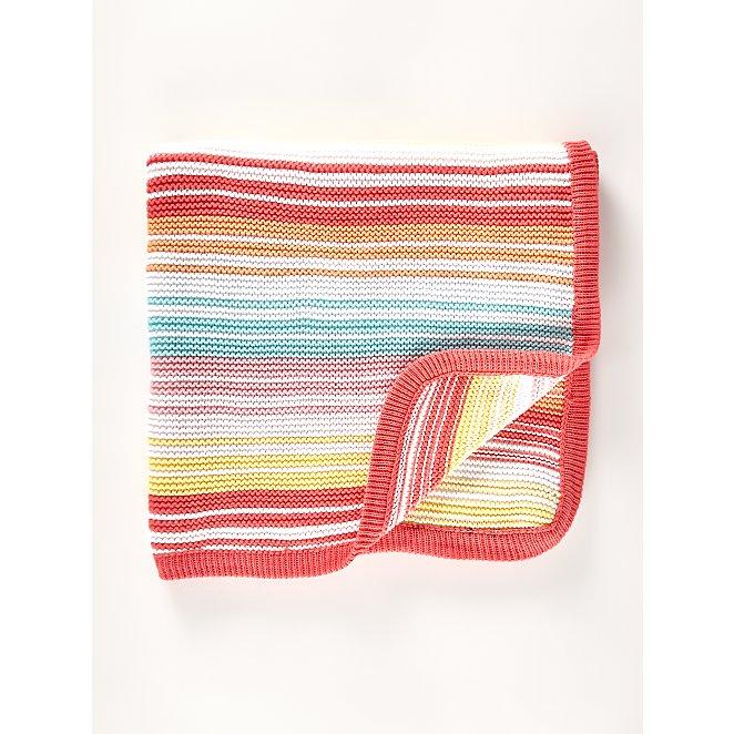 Rainbow Knitted Shawl Baby George