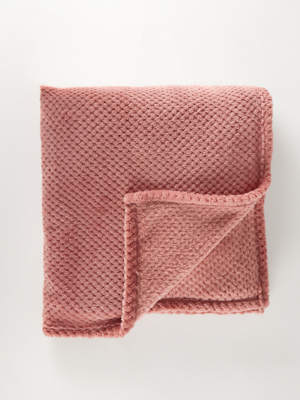 Rose Waffle Super Soft Throw