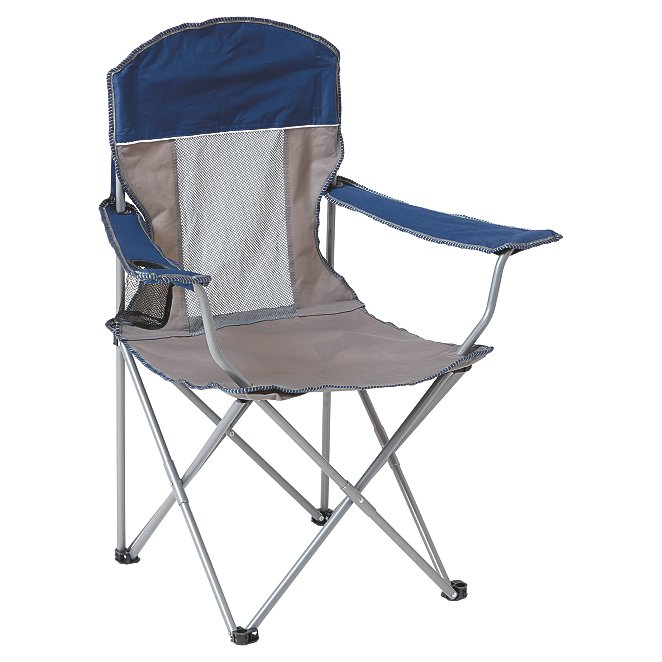 Ozark Trail Blue and Grey Comfort Mesh Camping Chair
