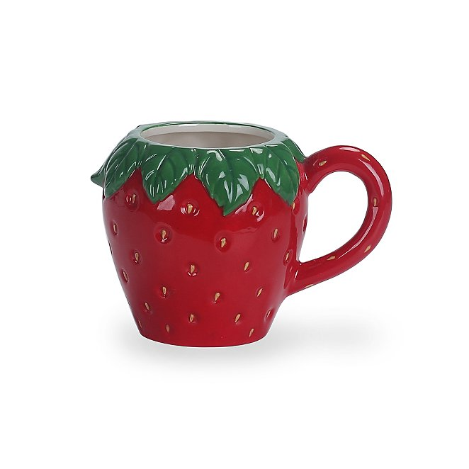 Red Strawberry Shaped Mug