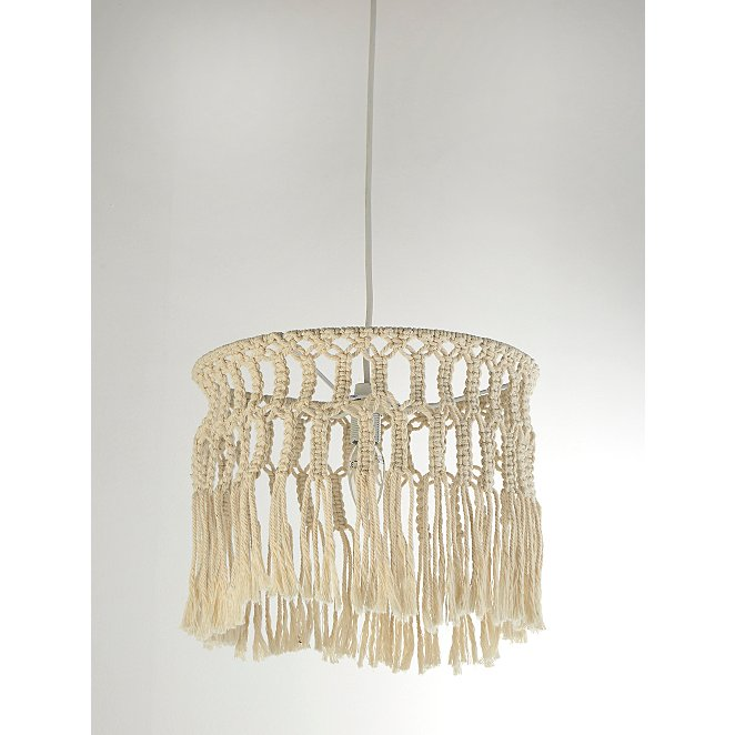 Macrame Easy Fit Ceiling Shade Home George At Asda