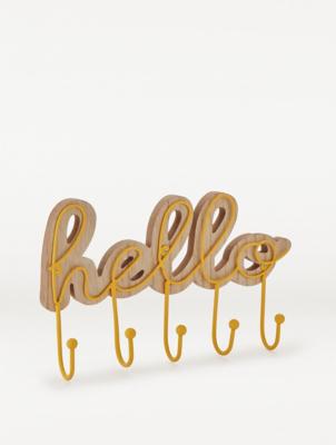 Hello Hanging Sign