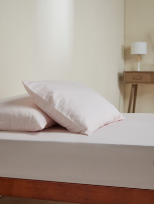 Pink Smooth and Silky 100% Cotton Sateen Fitted Sheet